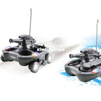 Tank bb tank rc - New Grey Super RC Wireless Remote Control Amphibious Tank Chariot With BB Shoot amp