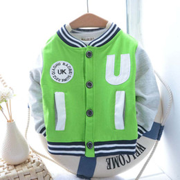 Wholesale Infant Jackets Child Clothes Children Outwear Boys Wear Casual Coat Kids Jacket Baby Coats Fashion Candy Color Jacket Long Sleeve Cardigan