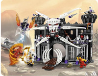 Wholesale BELA Ninjia DIY Garmadons Dark Fortress Building Block Set Kid s Educational Assembly Ninjago Toy