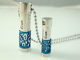 Wholesale new fashion women girls stainless steel perfume bottle pendant necklace new style best gift