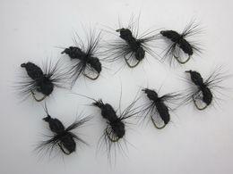 TROUT FLIES FISHING FLY DRY WET HOOK 40PCS BOX BLACK COLOR