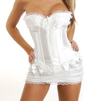 Wholesale Steel Bone Corset Dress - corset-sexy costumes wedding dress lace of gothic steel boned corsets and bustiers of lingerie tops for women plus size 068