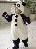 Unisex Spring / Autumn polar fleece 1-layer Baby Animal Panda rompers pyjamas jumpers toddler romper bodysuit sleepwear sleeping bag