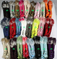 Wholesale lady s winter fingerless rabbit fur gloves hand wrist keyboard glove OEM colors mitten