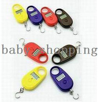 Pocket Scale <50g 25KG Wholesale - Free Shipping 25kg-5g Mini Display Portable Hanging Luggage Fishing Weighing Digital Scale KG LB