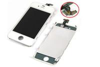 Reemplazo de pantalla táctil + Retina LCD Display Digitizer + Asamblea completa del marco para iPhone 4 4G / 4S CDMA GSM negro blanco