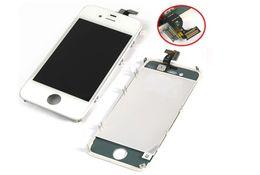 Descuento iphone 4s conjunto completo Reemplazo de pantalla táctil + Retina LCD Display Digitizer + marco conjunto conjunto completo para iPhone 4 4G / 4S CDMA GSM blanco negro