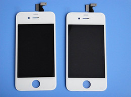 2017 iphone 4s conjunto completo Alta copia grande Una calidad DHL que envía libremente la pantalla táctil del reemplazo + la exhibición del LCD Digitizer + Frame fijó la asamblea para el iPhone 4 4G / 4S iphone 4s conjunto completo en venta