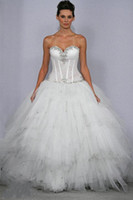 pnina tornai wedding dresses - Sexy Ball Gown Beaded Pnina Tornai Bling Bling Wedding Dresses Tulle Sweetheart See Through Bodice Crystal Beaded Bridal Gowns