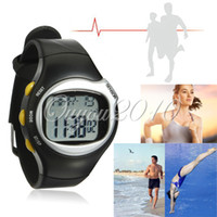 Wholesale New Sport Pulse Heart Rate Monitor Calories Counter Fitness Wrist Watch Black