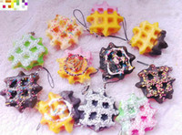 For Apple apple biscuits - Free Ship cm Delicious Waffle Cookies Biscuit Pancake Squishy charm DIY mobile phone straps pendant Bag Straps Charm Chri