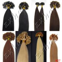 Wholesale S quot g Nail tip hair Human Hair Hair Extensions B