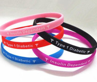 Wholesale Type Diabetes Insulin Dependent medical silcone wristband bracelet Big promtion