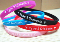 Other   Type 2 Diabetes Insulin Dependent medical silicone wristband bracelet big promtion