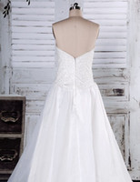 Wholesale Actual Image Unique Designer Sweetheart A line Lace Up Appliques Beads Ruffle Organza Cathedral Bridal Wedding Dresses Dress Gowns