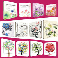 Wholesale Beautiful Flower Pattern PVC Switch Stickers Decorative Stickers Home Decoration FM021