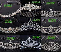 Wholesale 2014 New Arrivals Shinning Diamond Cryatal Empire Crown Bridal Jewelry Floral Tiaras amp Hair Accessories Mix Styles