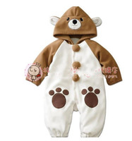 Animal Apricot Bear Romper climbing clothes leotard monolaye...