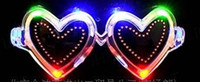 Wholesale Bright LED Cute Heart Shaped Flashing Sunglasses Light Up For Rave Party Dances Unisex Accessories