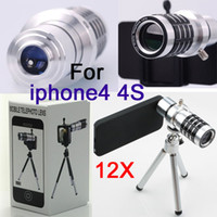Wholesale Phone Camera x Telescope Zoom Lens Tripod Case for Apple iphone G S iphone4S