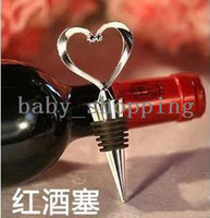Aluminum Bottle Openers ECO Friendly Wholesale Free Shipping 1 Piece New Metal Red Wine Cork Screw Bottle Stopper Corkscrew Opener