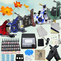 USA   USA Dispatch Professional complete cheap tattoo kits 5 guns machines 40 ink sets 1 Grip equipment power supply(USA warehouse)K301