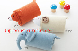 Wholesale Animal Baby Blanket Zoo Children Push Toys Blankets elephant blanket Size cm pc