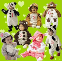 7design Boy Girl Baby Clothes Romper Winter Animal Jacket Co...