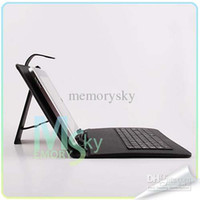 Wholesale Sanei Usb - Black Leather Case with Micro or USB Keyboard for 9 inch MID Tablet PC A13 Sanei N91 8850 Black Color