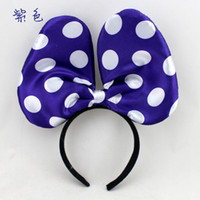 Wholesale Party Oversized Bow Tie Glow Hair head Cartoon Big Bowknot Head Brand