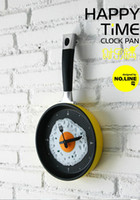 Wholesale Creative Happy Time Omelette Pan Clock Wall Clock