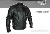 Wholesale PU MOTO Jackets motorcycle Jacket locomotive take leather jacket moto racing jacket motorcross jackets Motorbike jacket black