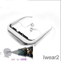 Wholesale 84 quot Virtual Screen Video Glasses Eyewear quot monitor Iwear for iPhone iPad iPod Multimedia Player with retail box