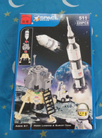 Wholesale Enlighten Educational Kids building Blocks DIY Space Series Moon Landing Assembles Particles Bricks