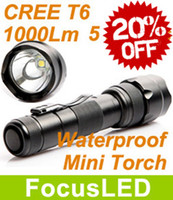 Wholesale Great Gift UltraFire Super Bright CREE T6 LM Modes Mini LED Flashlight Torch Waterproof Tactical For Camping Hiking Cycling