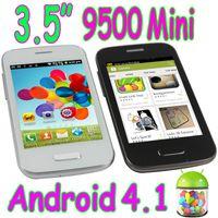 Wholesale 3 quot mini S4 mini Android Capacitive Screen Smart Cell Phone Quad Band Wifi Dual Sim Card Camera Unlocked mini9500
