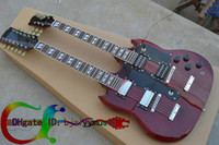 Solid Body 12 Strings Mahogany G Custom Shop 12 strings 1275 Double Neck Led Zeppeli Page Signed Aged red body 12 strings Electric guitar