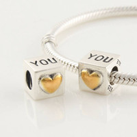 Wholesale Authentic ALE Sterling Silver I Love You Charm Bead Fits European Pandora Bead Bracelets