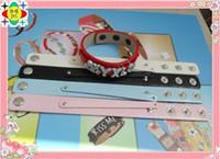 Wholesale mm wide cm length mix color PU Leather bracelet fit mm slide letters NO