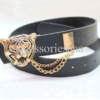 Wholesale Promotion Fashion Metal Gold Leopard Buckle Chain Designer Women s Leather Belt Woman Ladies Cummerbund Female Ceinture Straps