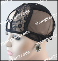 Wholesale black medium U part size large medium small available high quality Full lace wig Cap inside inner caps net sale wig making