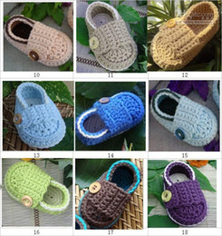 Wholesale Crochet baby shoes first walker loafers M cotton yarn customize pairs