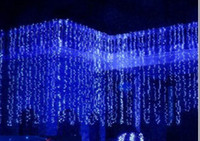 Wholesale 10x3M LED Curtain Wedding party LED curtain icicle net Christmas lights home garden lamps our dool led Fairy lighting