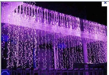 8x3m 800led Curtain Wedding Party Led Curtain Icicle Net Christmas Lights Hom