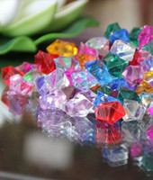 Tabletop Confetti acrylic table wholesalers - 200pcs mm CRYSTAL ACRYLIC ICE VASE FILLERS Wedding Table Scatter Crystals Confetti party Decoration Gems mixed color