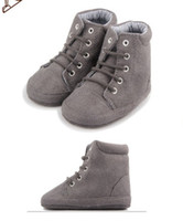 Winter baby shop direct - 30 OFF Free shopping Factory direct gray bandage casual high top boots toddler shoes online kid shoes baby wear pairs ZH
