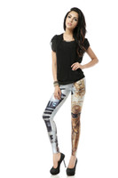 Long Print Leggings Polyester FREE SHIPPING DK086 Women Print Leggings a pair of Star Wars with C-3PO and R2-D2 Pants Plus Size Tights Punk Wholesale