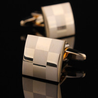 Wholesale Hot sale men gold plated simple french shirt cufflinks cuff nail