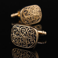 Wholesale Hot sale men gold plated classic french shirt cufflinks cuff nail