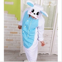 Wholesale Blue Rabbit Kigurumi Pajamas Anime Cosplay Costume unisex Adult Onesie Dress S M L XL